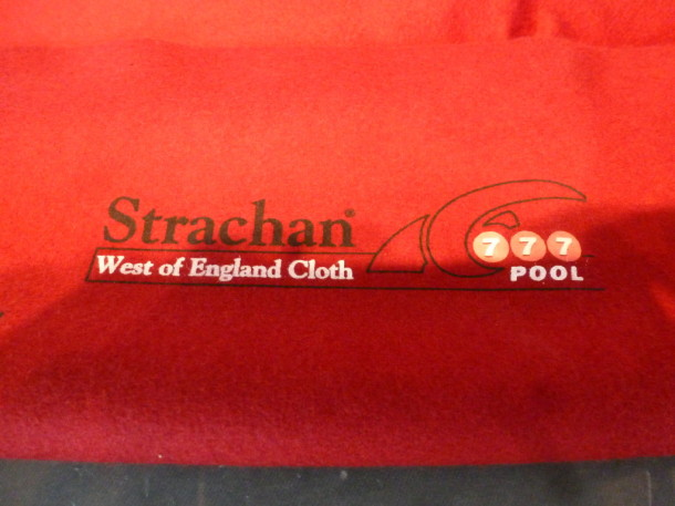 pool table 6ft superleague red 777 cloth logo