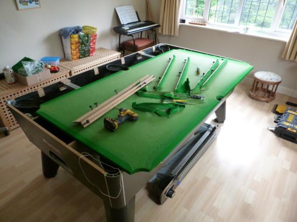 pool table keyworth 7ft riley superleague stripping