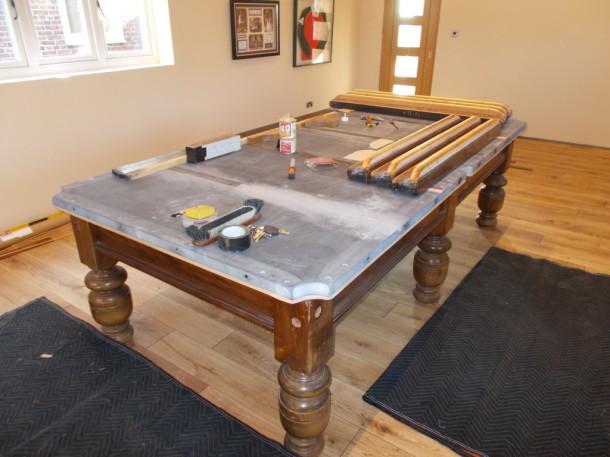 Ashbourne 9ft rubber and cushion blocks glued