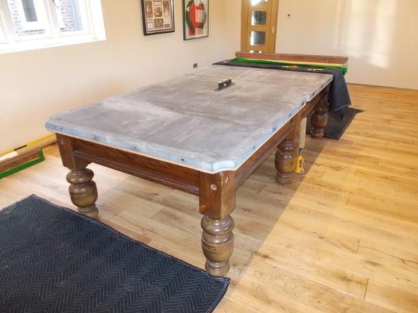 Ashbourne 9ft table erected slates on and level