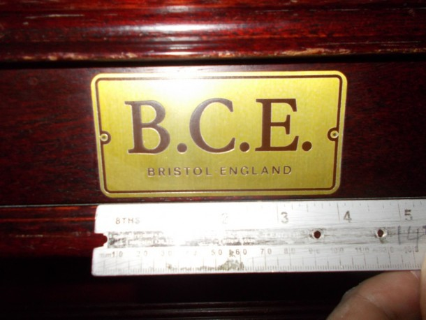 BCE plate 4inch by 2 inch