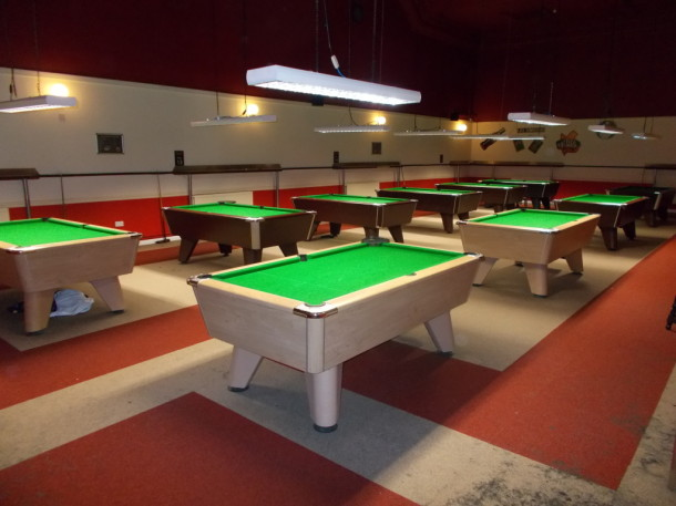 Coopers pool area 10 tables 3 re-covered Oct 15th 2015