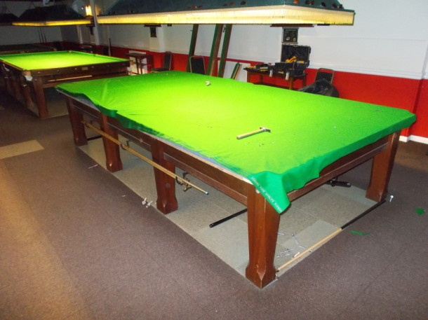 coopers snooker area up two re-covers 0ct 2015