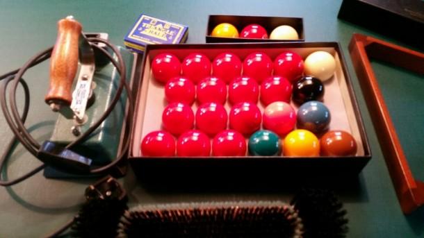 George Wright lucie iron balls brush triangle
