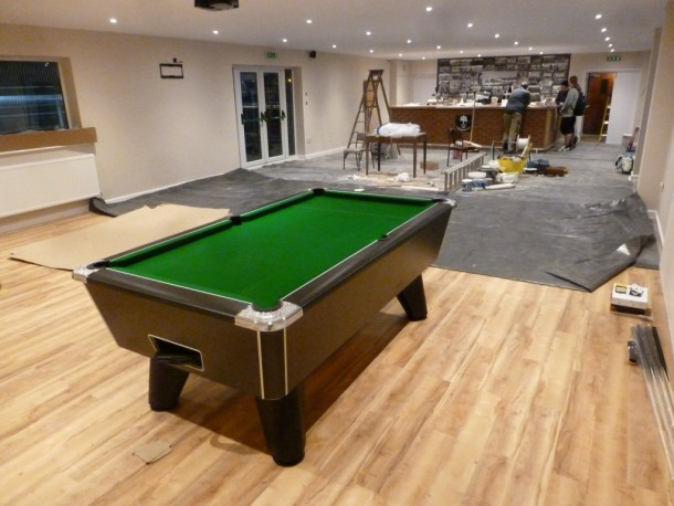 Collingham FC hire pool table 12122015