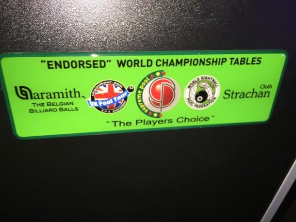 6ft winner supreme pool table badge