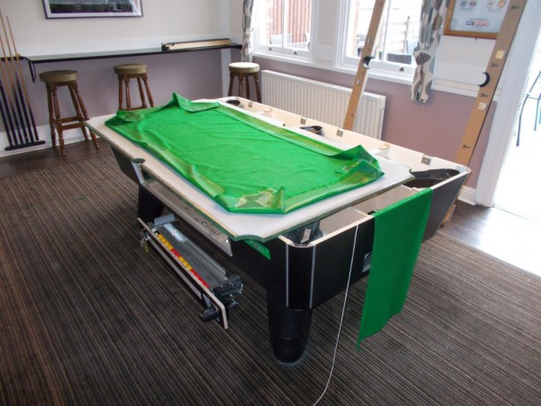chequers pool table glued slate and cloth
