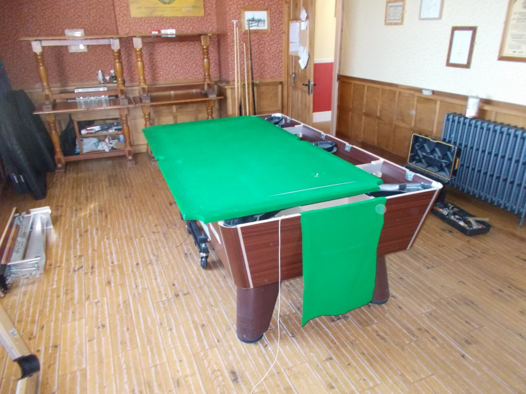 Pool Table Recovering Reclothing In Derby Clubs And Pubs GCL - Reclothing pool table