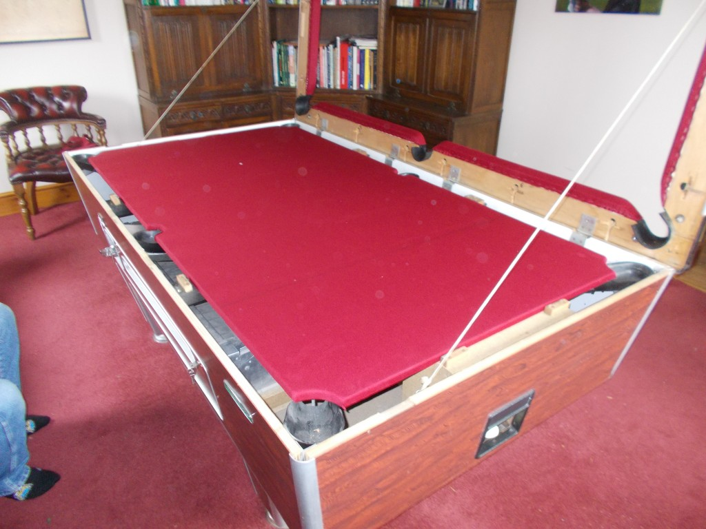 Super League Pool Table Recovering Re Clothing New Cushions And - Billiard table recovering