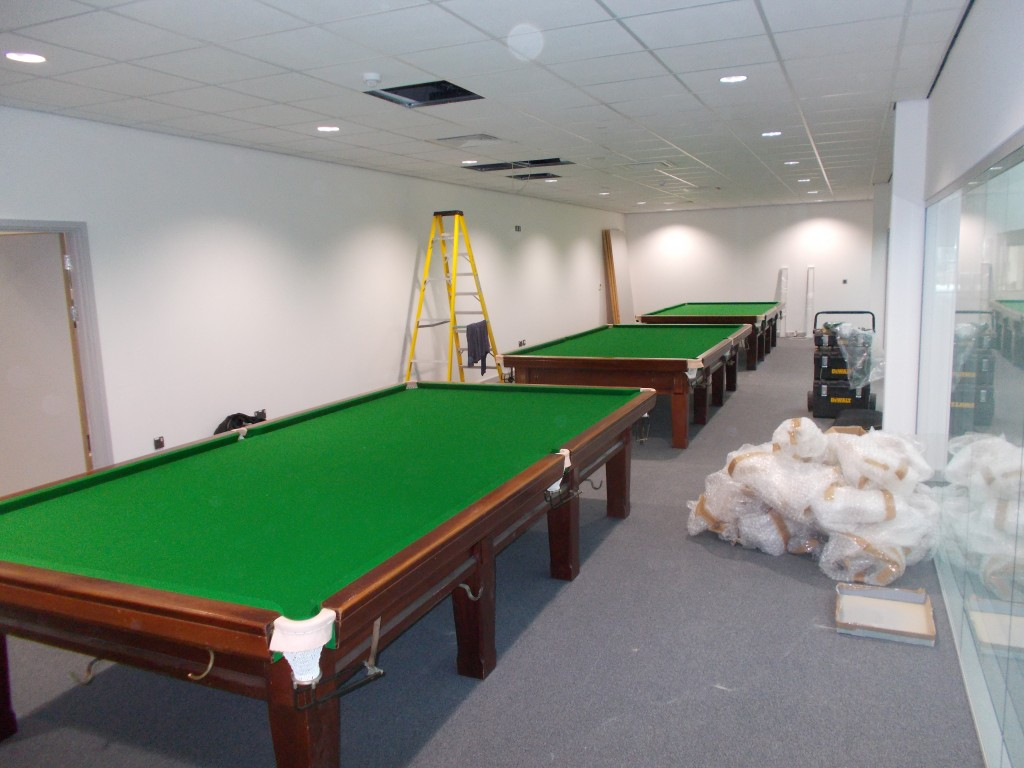 Three Full Sized Snooker Tables Installed At Nottingham University S New 40m Sports Centre