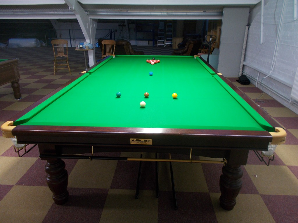 Full size riley aristocrat tournament snooker table set up for 10 snooker table