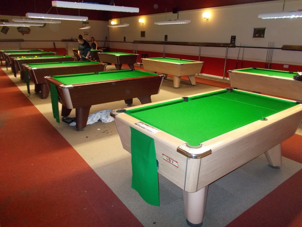 5 pool tables recovered for wellingborough snooker club for 10 pool table