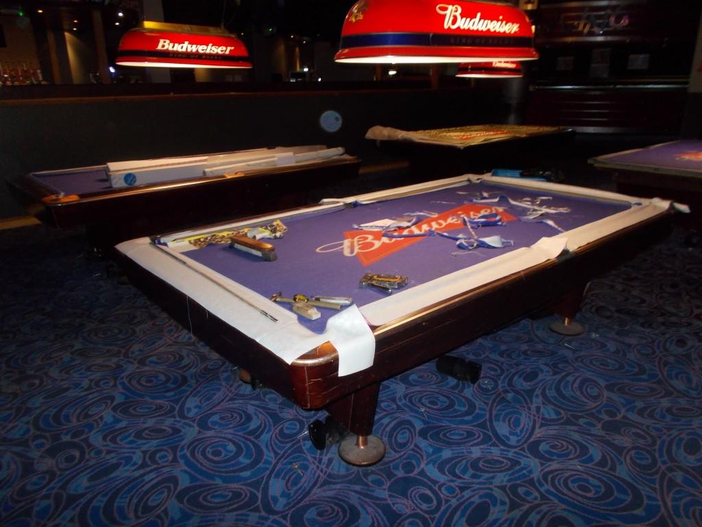 Beautiful Bud Light Pool Table Felt Designs