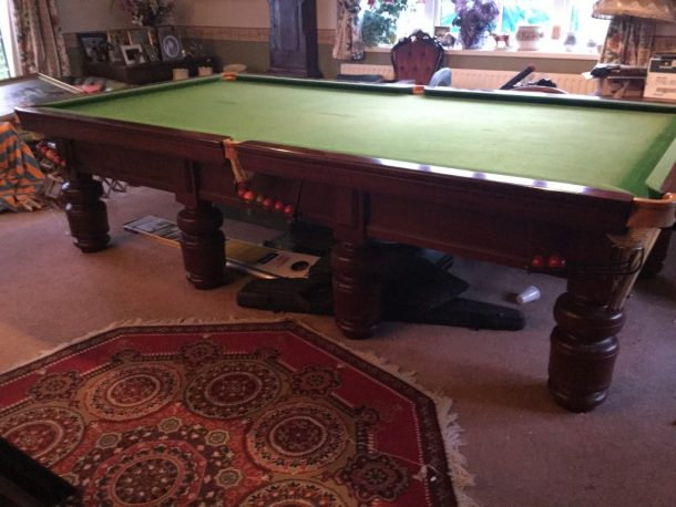 Snooker table dismantle and transport relocation use gcl for 10ft x 5ft snooker table
