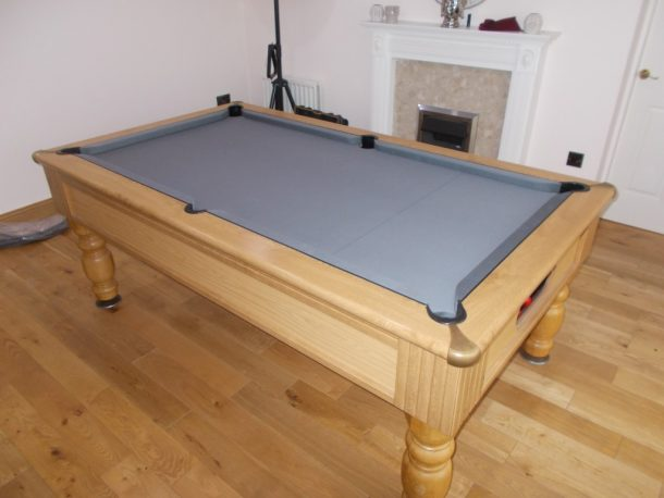 Special Order Grey Tournament Strachan Cloth On Pool Table - Tournament choice pool table