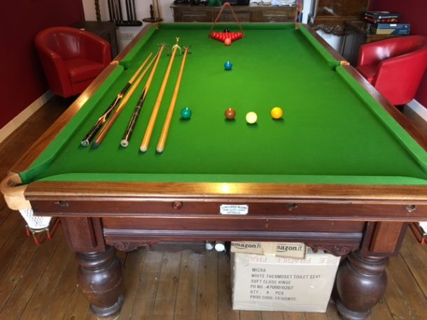 John Gent Ft Snooker Table NOW SOLD GCL Billiards - How tall is a pool table