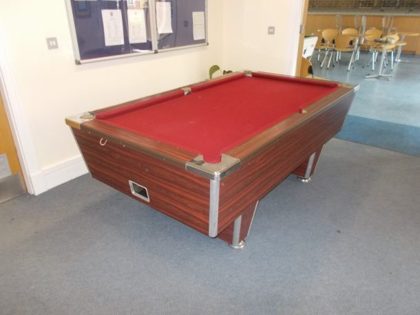 The Table Is An Hazel Grove Superleague 7×4 Foot Table It Had A Re Cover  Around 1 Year Ago And Has Been Used In A 6th Form Rest Area In A College .