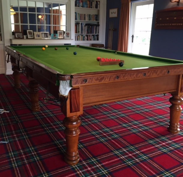 10ft thurston vintage billiards snooker table for sale for 10ft x 5ft snooker table