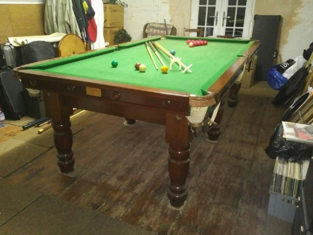 Ft Karnehm Hillman Snooker Table Installed In Cambridge GCL - Adjustable pool table