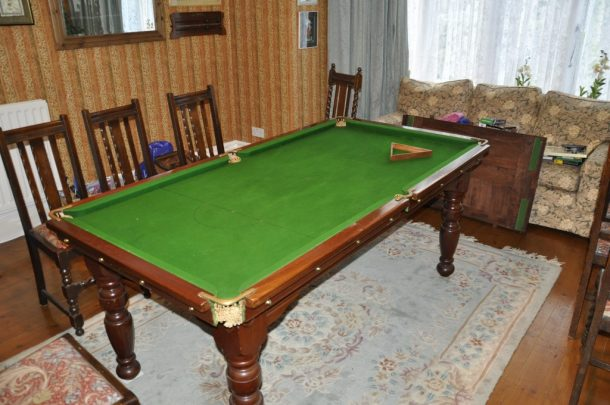 Ft Set Height Riley Billiard Table With Hard Top For Sale - Pool table hard top