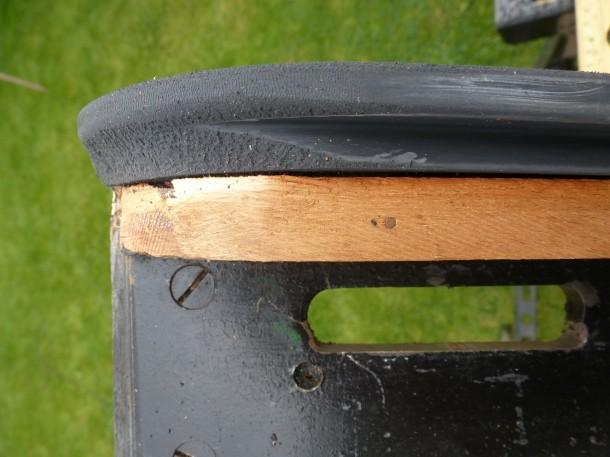 steel rerubber undercut sanded sharp edge off