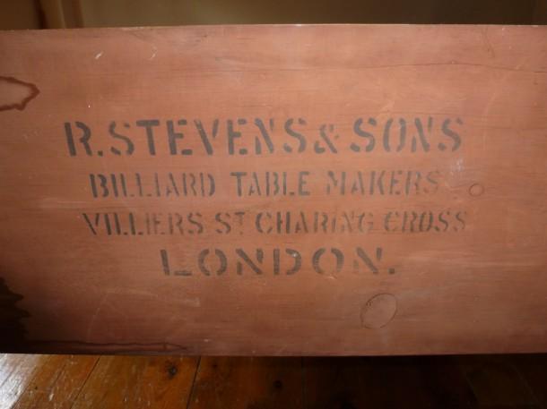 stevens mr cook stamp ink wood