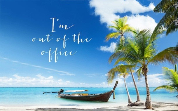 I.m out of the office photo beach palm