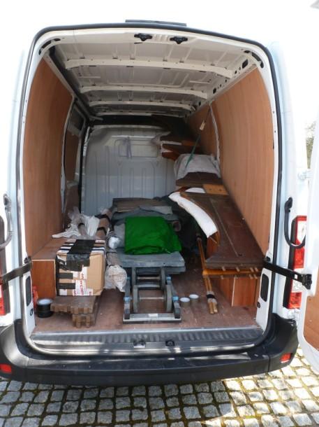 van igor loaded inside cargo