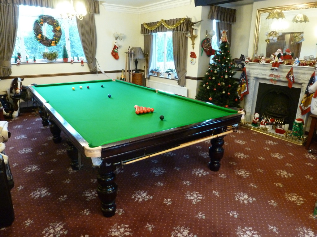 Last Day Of Snooker Table Work Tomorrow Before Christmas