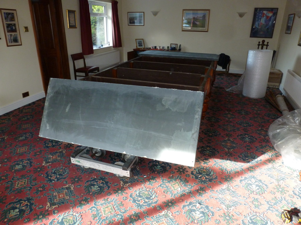 For Sale Burroughs And Watts Snooker Table Also Bubble Wrap K B Wattys In Ashfield Slates Coming Off