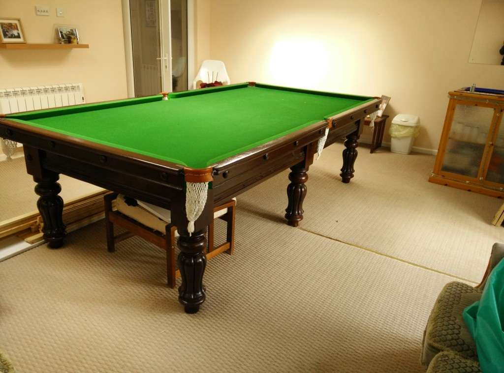 Nice Antique 9ft Jelks Billiard Snooker Table Now Sold