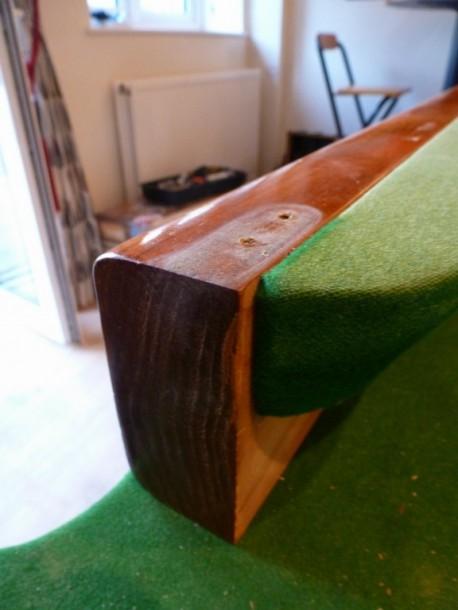 8ft nailed cushions block end of cush short