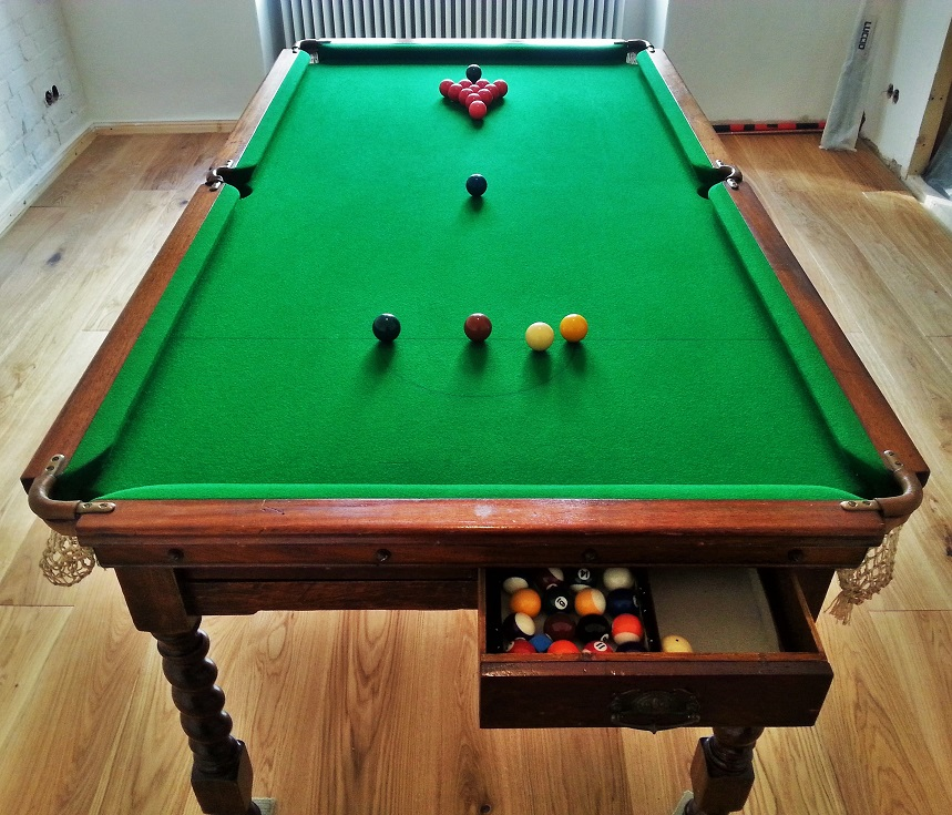 For Sale Very Old Antique Jelks 6ft X 3ft Billiard