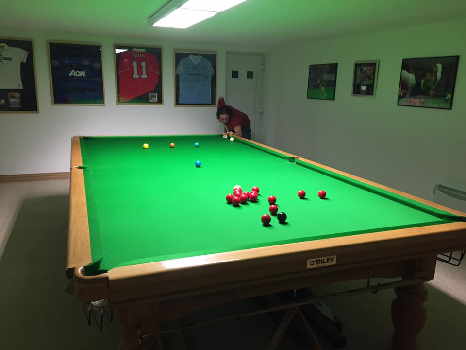 Full Size Snooker Table Room Size