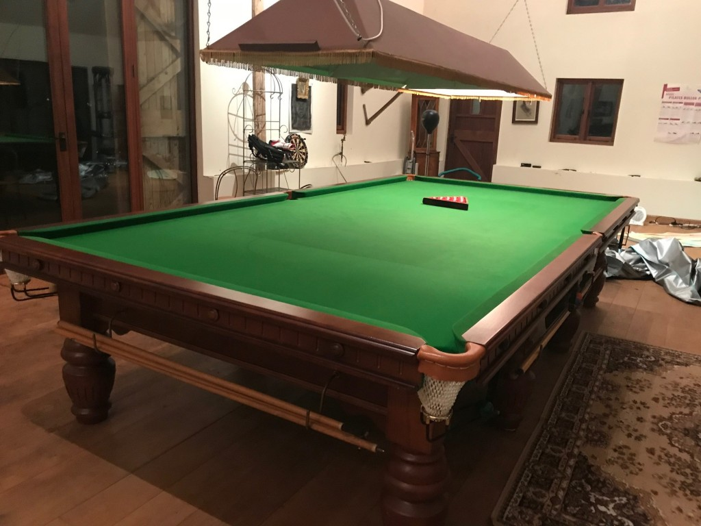 Full Size Snooker Table For Sale Turned Leg Modern Circa